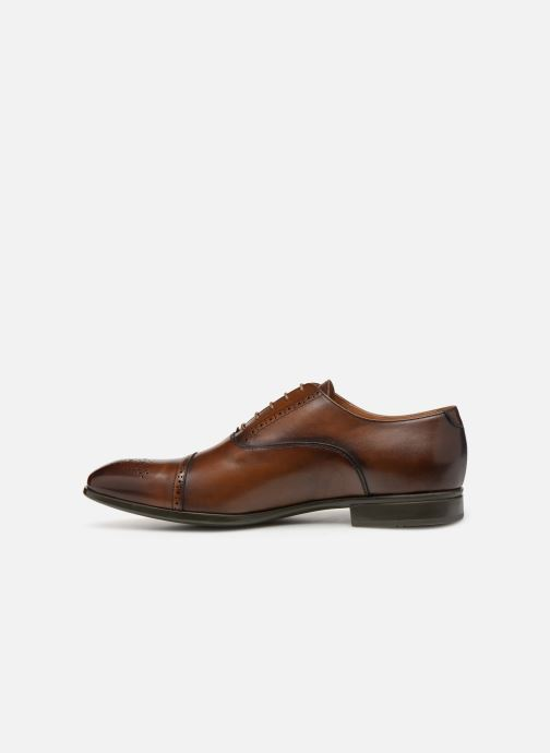 Lace-up shoes Doucal's OTELLO Brown front view
