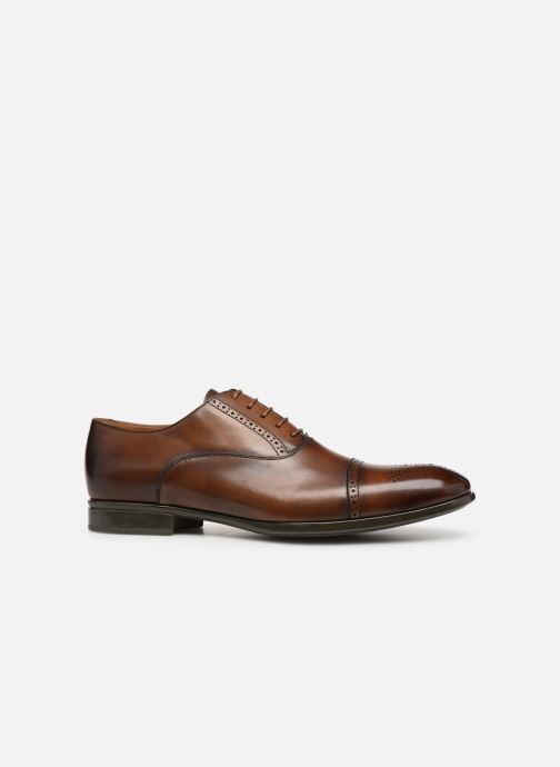 Lace-up shoes Doucal's OTELLO Brown back view