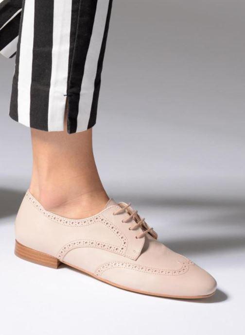 Zapatos con cordones Georgia Rose Taflora Beige vista de abajo