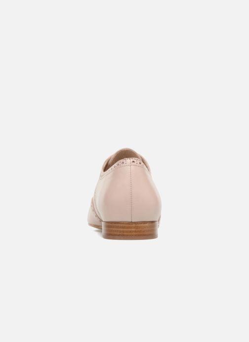 Zapatos con cordones Georgia Rose Taflora Beige vista lateral derecha