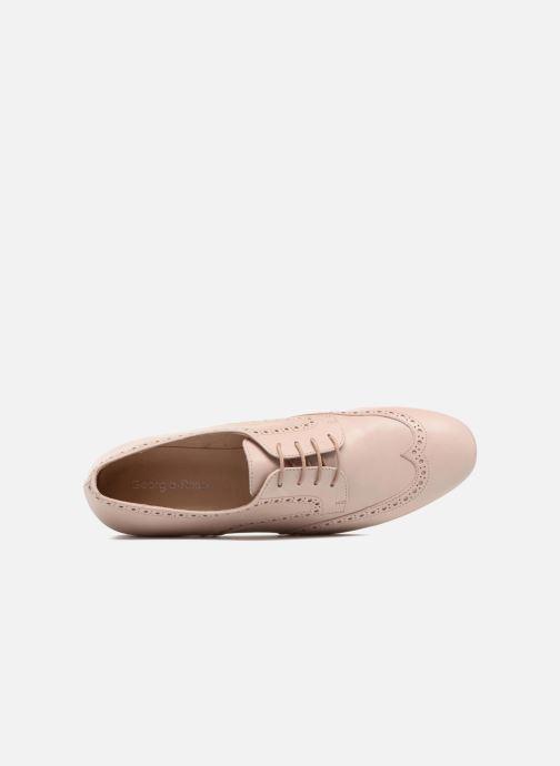 Zapatos con cordones Georgia Rose Taflora Beige vista lateral izquierda