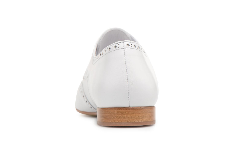Chaussures à lacets Georgia Rose Taflora Blanc vue droite