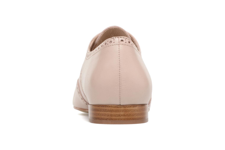 Chaussures à lacets Georgia Rose Taflora Beige vue droite