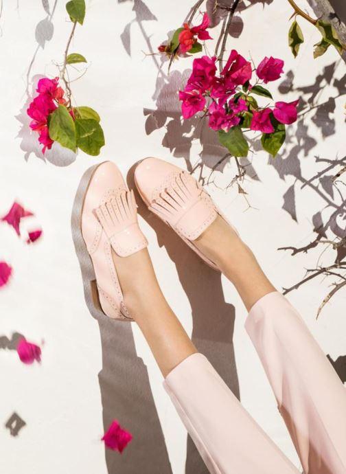 Slipper Georgia Rose Tichoca rosa ansicht von unten / tasche getragen