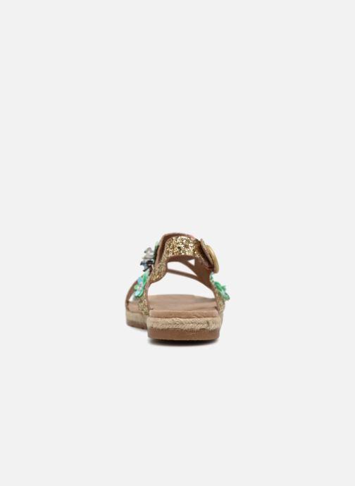Sandales et nu-pieds Molly Bracken Linizia Or et bronze vue droite