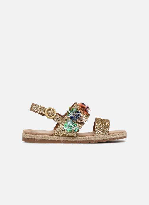 Sandales et nu-pieds Molly Bracken Linizia Or et bronze vue derrière