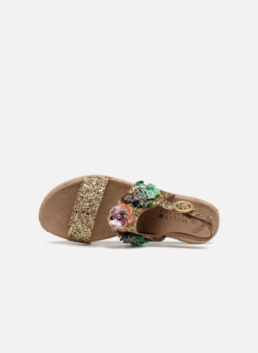 Sandales et nu-pieds Molly Bracken Linizia Or et bronze vue gauche