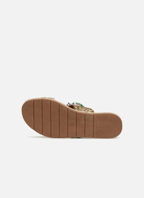 Sandales et nu-pieds Molly Bracken Linizia Or et bronze vue haut