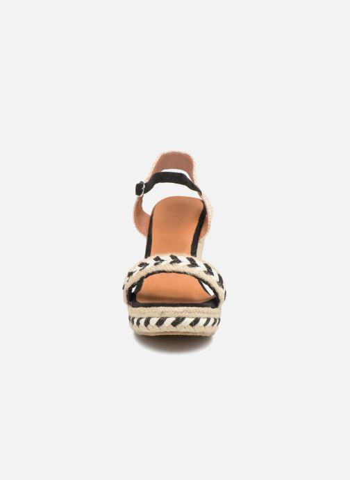 Espadrilles Molly Bracken Leelay Noir vue portées chaussures