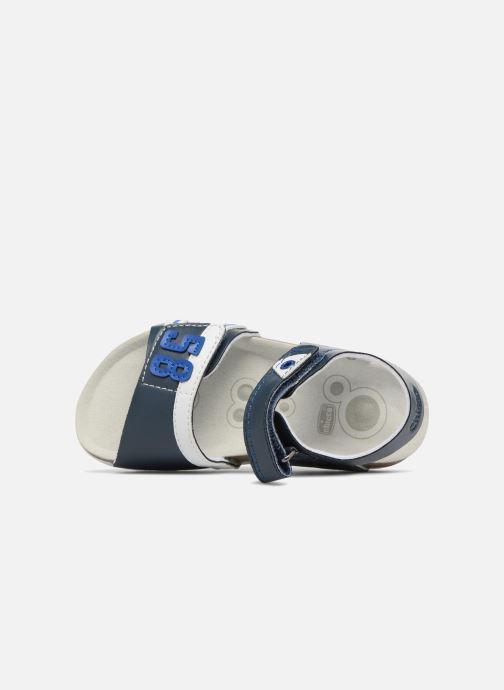 Sandalias Chicco Hedo Azul vista lateral izquierda