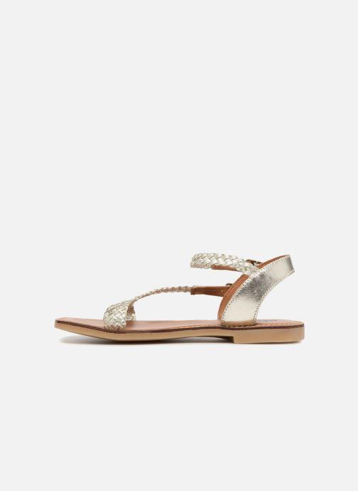 Sandales et nu-pieds Adolie Lazer Bi Strips Argent vue face