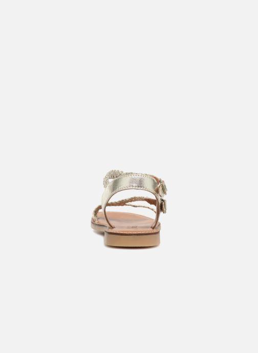 Sandalen Adolie Lazer Bi Strips Zilver rechts