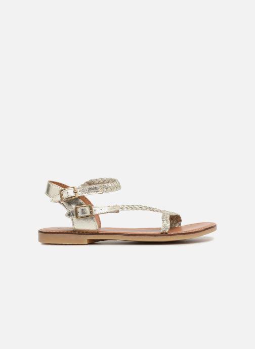 Sandales et nu-pieds Adolie Lazer Bi Strips Argent vue derrière