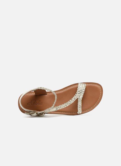Sandales et nu-pieds Adolie Lazer Bi Strips Argent vue gauche
