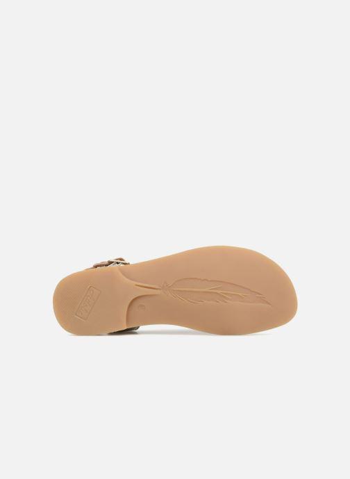 Sandales et nu-pieds Adolie Lazer Bi Strips Argent vue haut