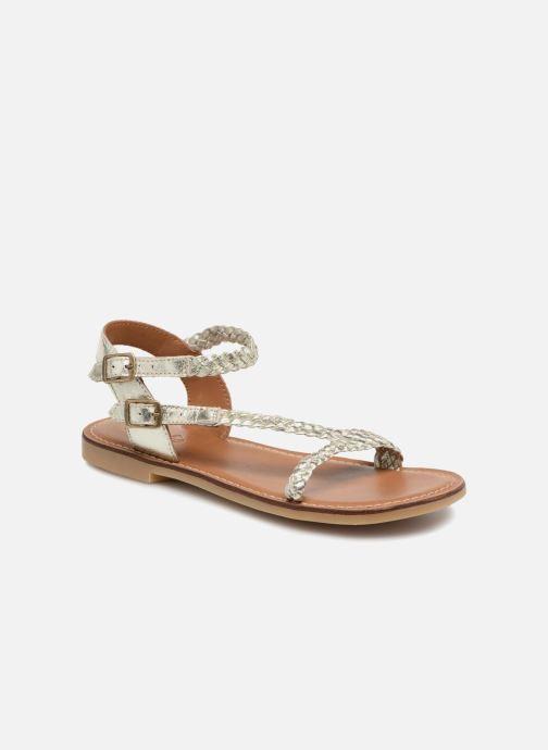 Sandales et nu-pieds Adolie Lazer Bi Strips Argent vue détail/paire