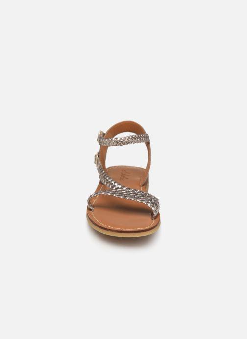 Sandales et nu-pieds Adolie Lazer Bi Strips Or et bronze vue portées chaussures
