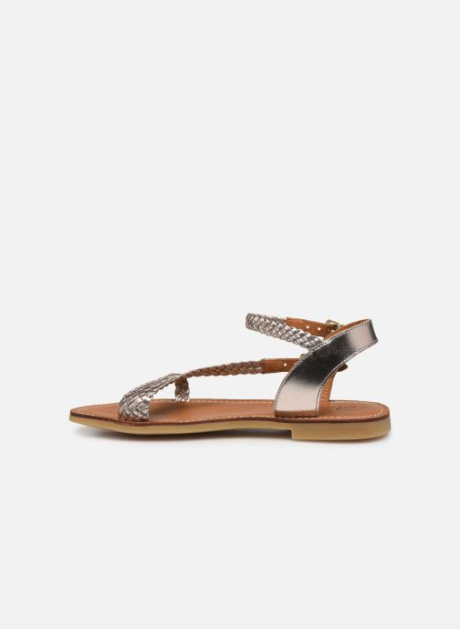 Sandals Adolie Lazer Bi Strips Bronze and Gold front view