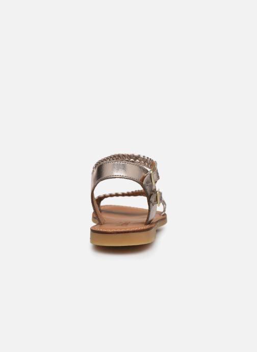 Sandales et nu-pieds Adolie Lazer Bi Strips Or et bronze vue droite