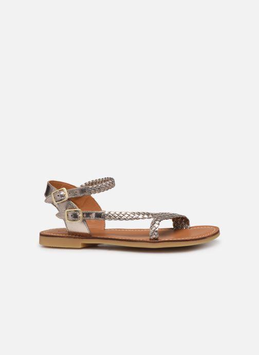 Sandales et nu-pieds Adolie Lazer Bi Strips Or et bronze vue derrière