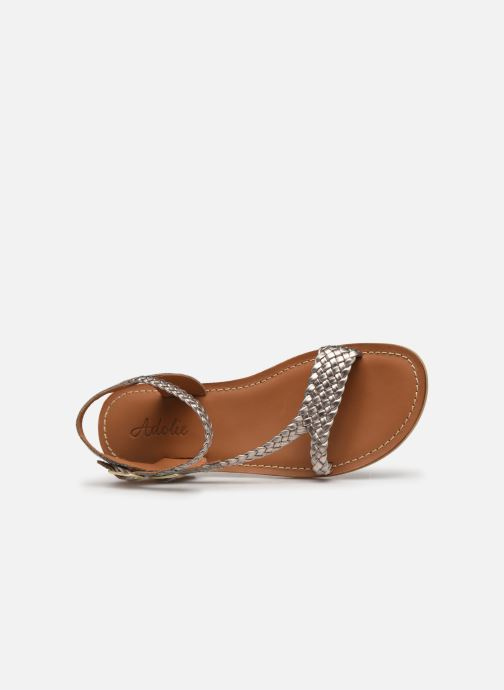 Sandals Adolie Lazer Bi Strips Bronze and Gold view from the left