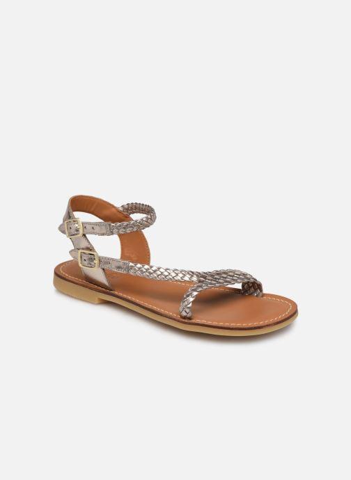 Sandales et nu-pieds Adolie Lazer Bi Strips Or et bronze vue détail/paire
