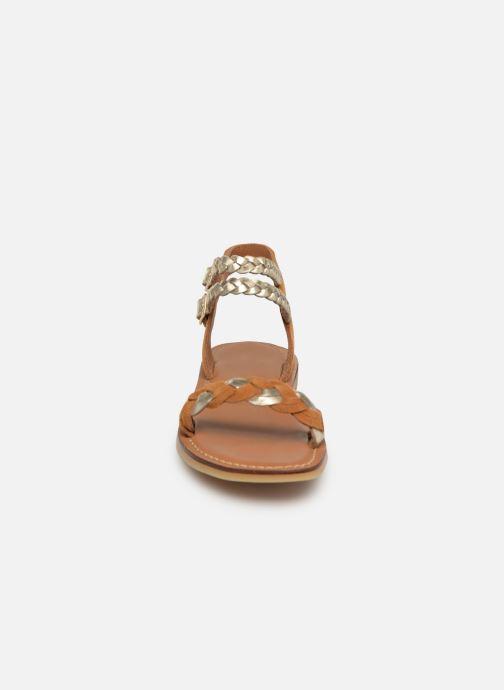Sandales et nu-pieds Adolie Lazar Wowo Marron vue portées chaussures