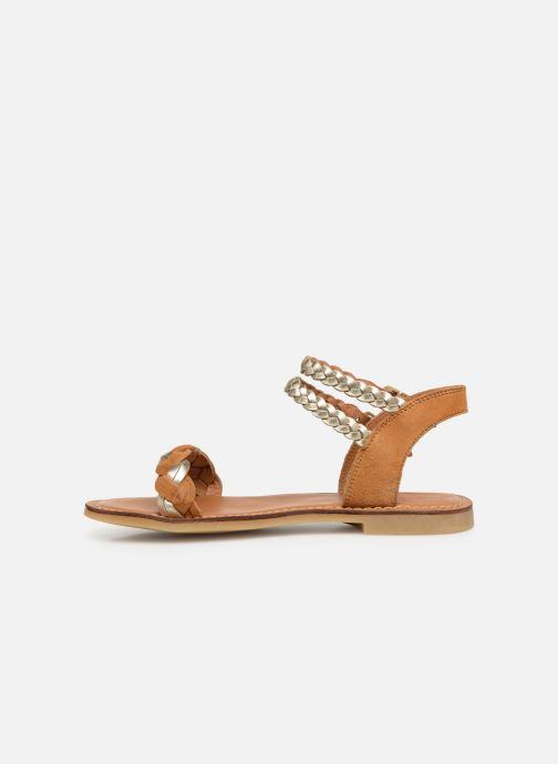 Sandales et nu-pieds Adolie Lazar Wowo Marron vue face