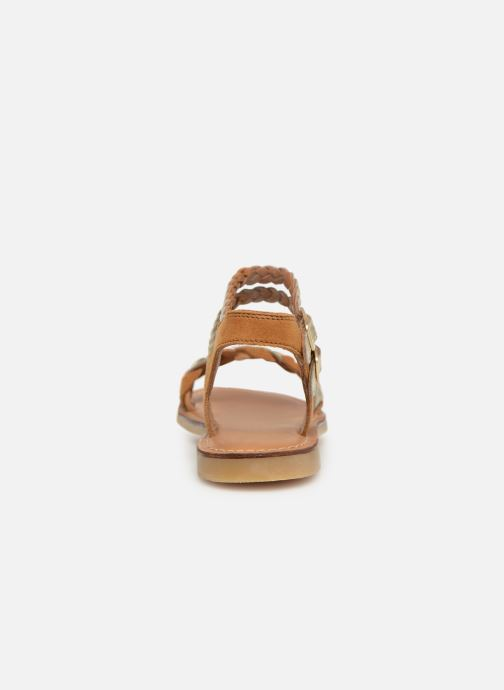 Sandals Adolie Lazar Wowo Brown view from the right