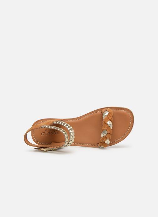 Sandales et nu-pieds Adolie Lazar Wowo Marron vue gauche