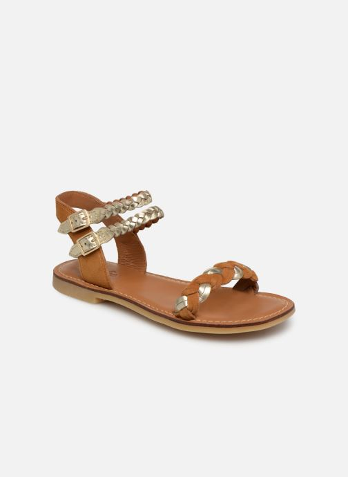 Sandals Adolie Lazar Wowo Brown detailed view/ Pair view