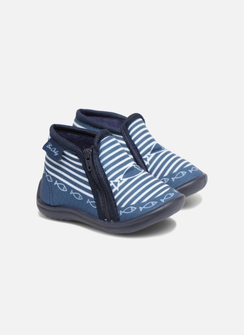 Chaussons Be Only Timousson Bleu vue 3/4