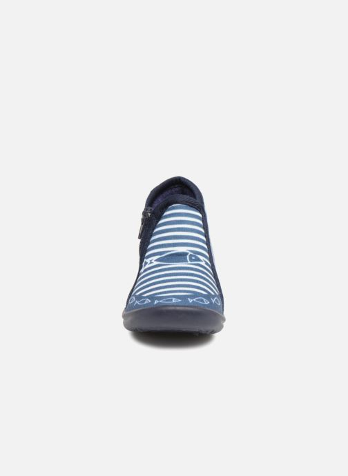 Chaussons Be Only Timousson Bleu vue portées chaussures