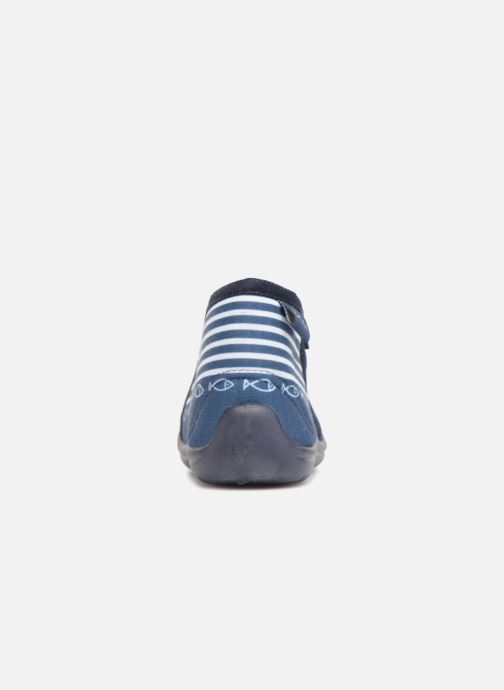 Pantuflas Be only Timousson Azul vista lateral derecha