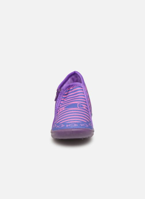 Chaussons Be Only Timousson Violet vue portées chaussures