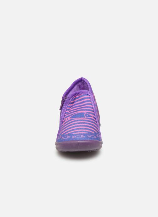Pantofole Be Only Timousson Viola modello indossato