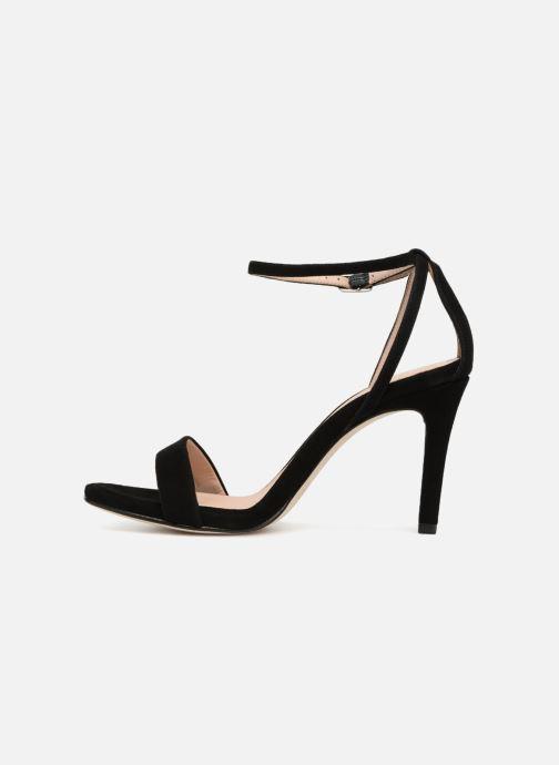 Sandales et nu-pieds Unisa Wax Noir vue face