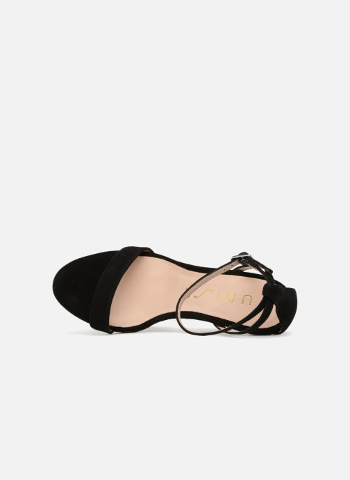 Sandales et nu-pieds Unisa Wax Noir vue gauche