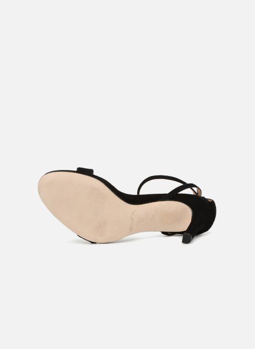 Sandales et nu-pieds Unisa Wax Noir vue haut
