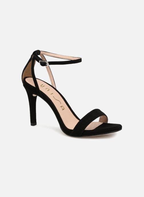 Sandales et nu-pieds Unisa Wax Noir vue détail/paire