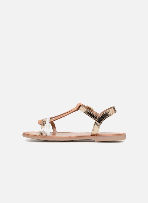 Sandales et nu-pieds Les Tropéziennes par M Belarbi Bada Or et bronze vue face
