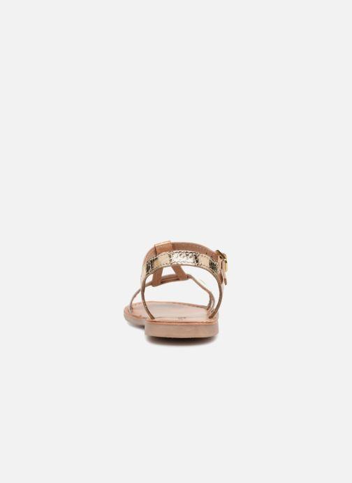 Sandali e scarpe aperte Les Tropéziennes par M Belarbi Bada Oro e bronzo immagine destra