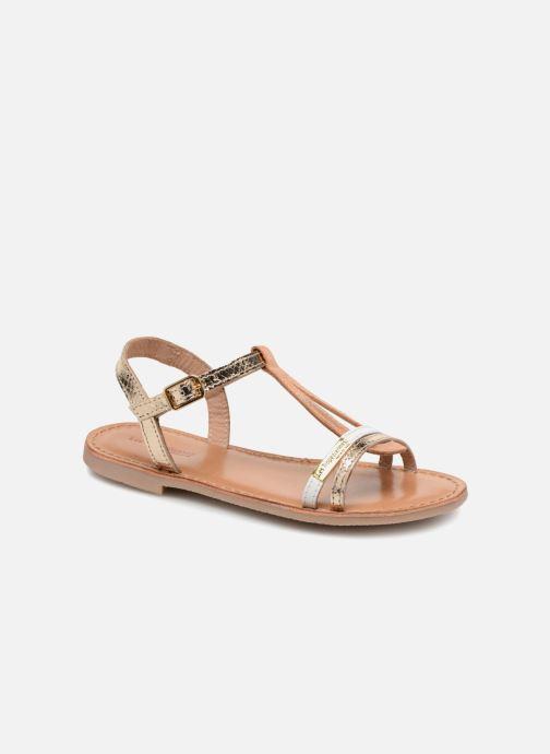 Sandales et nu-pieds Les Tropéziennes par M Belarbi Bada Or et bronze vue détail/paire