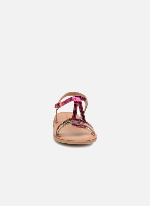 Sandales et nu-pieds Les Tropéziennes par M Belarbi Bada Argent vue portées chaussures