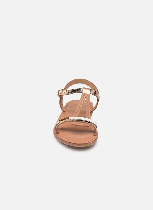 Sandalias Les Tropéziennes par M Belarbi Bada Oro y bronce vista del modelo