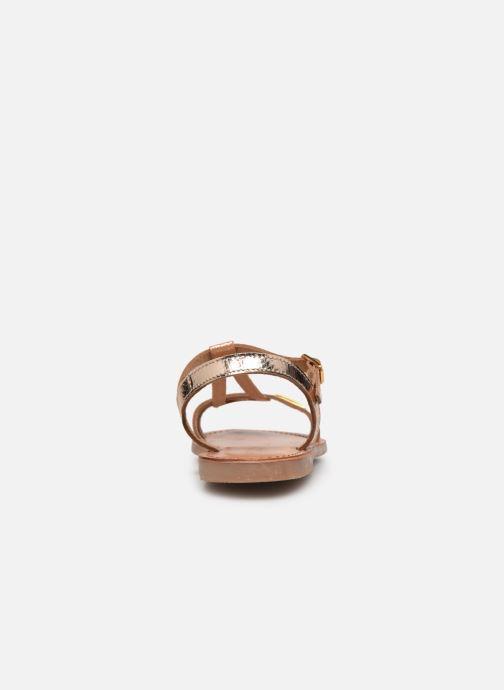 Sandalias Les Tropéziennes par M Belarbi Bada Oro y bronce vista lateral derecha