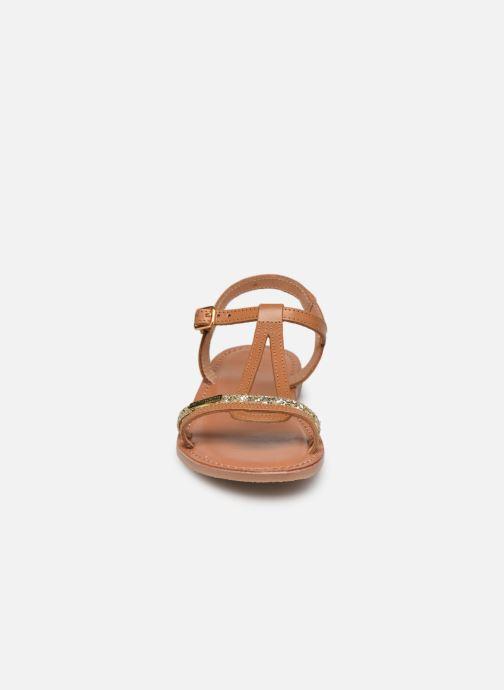 Sandales et nu-pieds Les Tropéziennes par M Belarbi Bada Marron vue portées chaussures