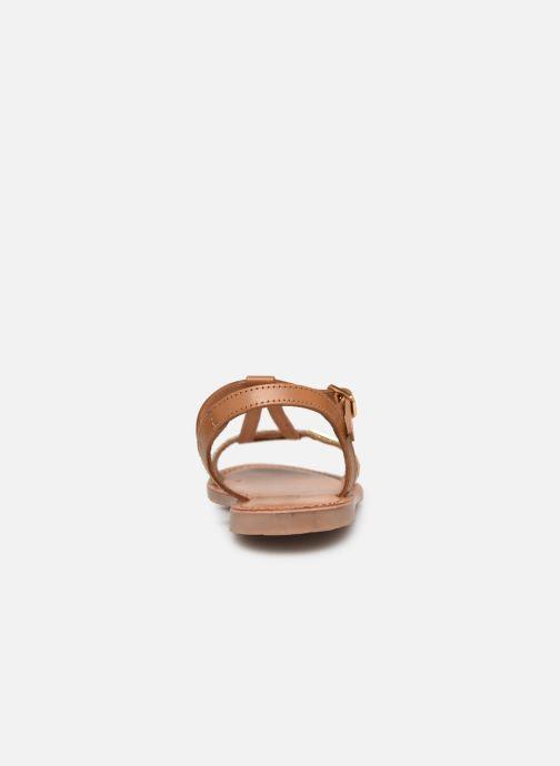 Sandales et nu-pieds Les Tropéziennes par M Belarbi Bada Marron vue droite