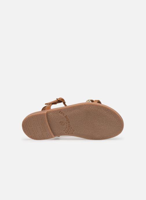 Sandales et nu-pieds Les Tropéziennes par M Belarbi Bada Marron vue haut