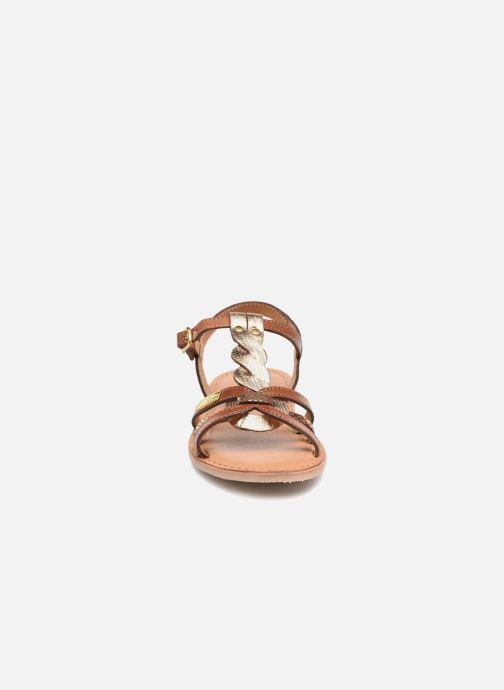 Sandales et nu-pieds Les Tropéziennes par M Belarbi Badami Marron vue portées chaussures